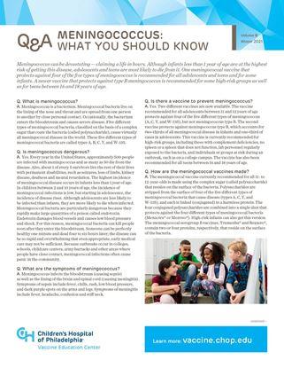 meningococcus Q&A